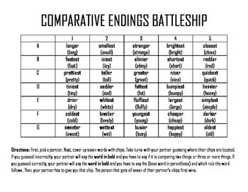 Comparative Endings BATTLESHIP