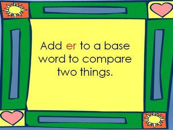 Comparative Endings -er and -est Powerpoint Presentation