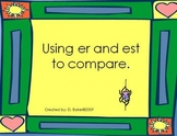 Comparative Endings -er and -est Powerpoint Presentation