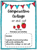 Comparative Endings (er and est) Printables and Activities