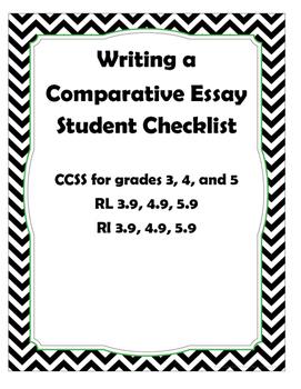 Comparative Essay Checklist