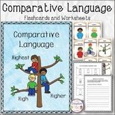 Comparative Language Flashcards and Worksheets