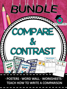 Comparative Language Vocabulary and activity packet