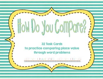 Comparative Place Value Task Cards