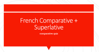 Comparative Quiz