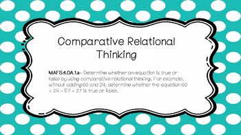 Comparative Relational Thinking
