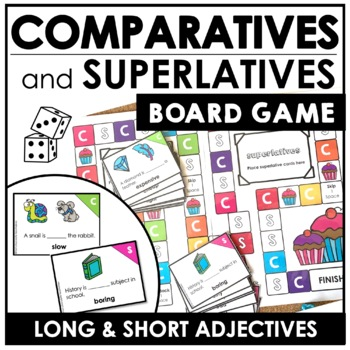 Adjectives-Comparative & Superlative Sentence Board Game