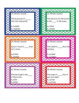 Comparative & Superlative Adjectives Board Game