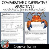 Comparative & Superlative Adjectives - Grammar Worksheets