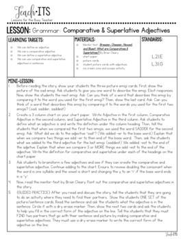 Comparative & Superlative Adjectives Lesson Plan