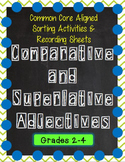 Comparative & Superlative Adjectives Sorting Game and Recording Pages