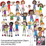 Comparative / Superlative People Clipart - Grammar Clipart