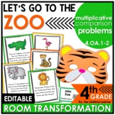 Zoo Math Classroom Transformation | 4th Grade Comparative Word Problems