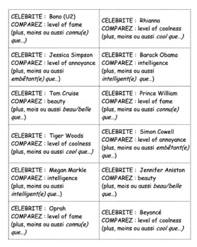 Comparative Writing Activity : comparative of adjectives