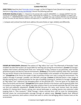 Comparative Writing: BUNDLE: 6 Activities: Lyrics & Video Clip FUN