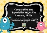 Comparative and Superlative Adjective Learning Grids