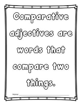 Comparative and Superlative Adjective Practice