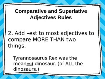 Comparative and Superlative Adjective Presentation