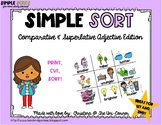 Comparative and Superlative Adjective Sorting Cards