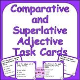 Comparative and Superlative Adjective Task Cards