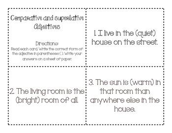 Comparative and Superlative Adjectives 1