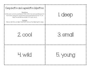 Comparative and Superlative Adjectives 3