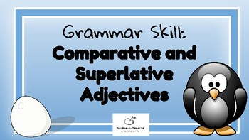 Comparative and Superlative Adjectives Freebie