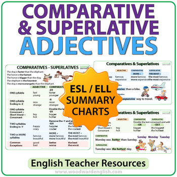 Comparative and Superlative Adjectives - ESL Charts