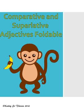 Comparative and Superlative Adjectives Foldable