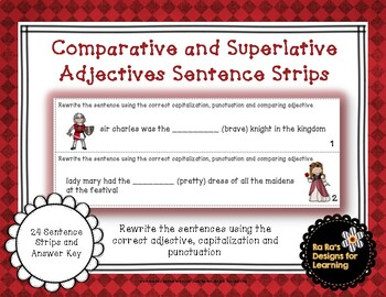 Comparative and Superlative Adjectives Sentence Strips