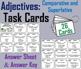 Comparative and Superlative Adjectives Task Cards 2nd 3rd 4th 5th Grade