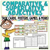 Comparative and Superlative Adjectives Task Cards, Posters, Games, and More