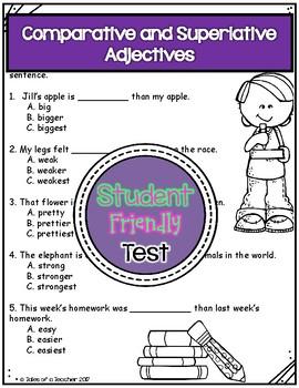 Comparative and Superlative Adjectives Test