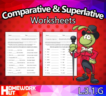 Comparative and Superlative Adjectives Worksheets