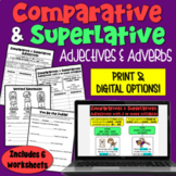Comparative and Superlative Adjective and Adverb: 6 Worksheets | PDF and Digital