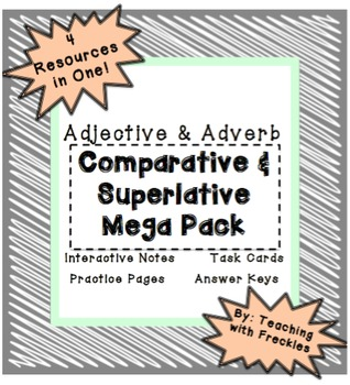 Comparative and Superlative Adjectives and Adverbs Mega Pack