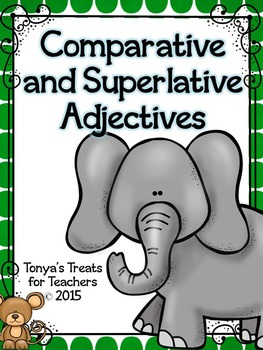 Comparative and Superlative Adjectives~matching activity