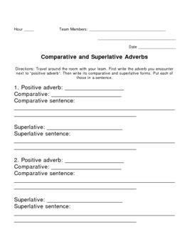 Comparative and Superlative Adverbs
