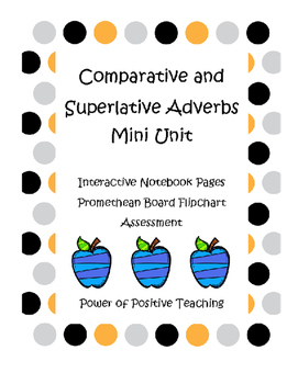 Comparative and Superlative Adverbs Mini Unit