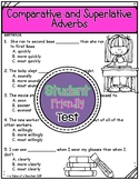 Comparative and Superlative Adverbs Test