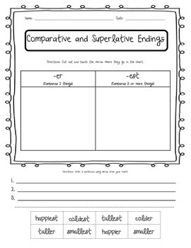 Comparative and Superlative Endings