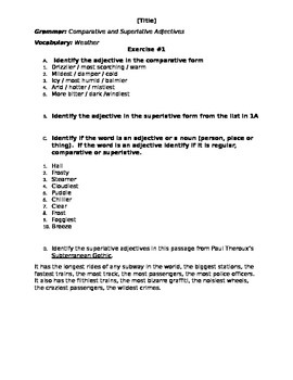 Comparative and Superlative - Exercises - Step 1 - Recognition