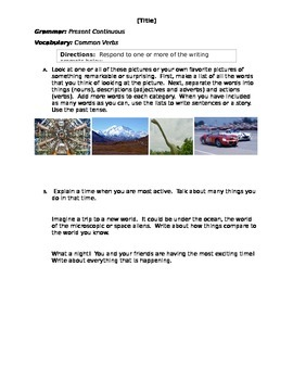 Comparative and Superlative - Exercises - Step 4 - Writing Prompt