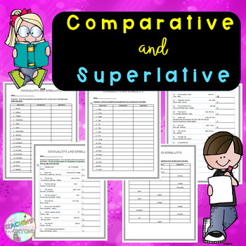 Comparative and Superlative - Filling in the Tables