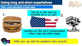 Comparative and Superlative Grammar Unit: Sentence Composing Approach