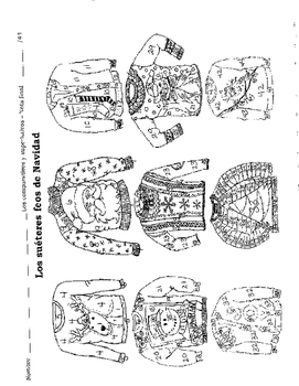 Comparative and Superlative Ugly Sweater Coloring Page
