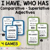 Comparative and superlative adjectives : I have ... Who ha