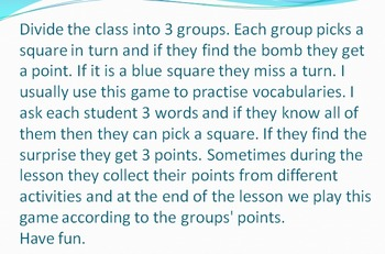 VOCABULARY REVIEW with a battle game