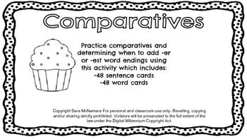 Comparatives: Adding -er and -est Endings