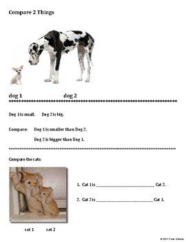 Comparatives - Compare 2 Things